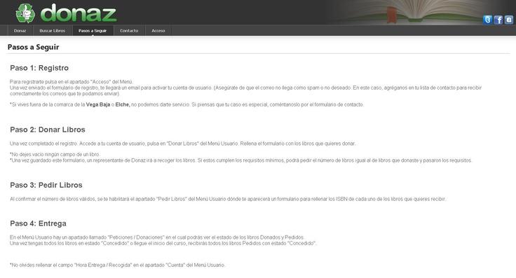 @DonazLibros  - Una web para intercambiar libros de texto de forma gratuita que cubre primaria, secundaria y bachiller de varias localidades alicantinas.  #Educacion #Spain #Alicante #Iniciativas