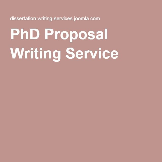 Phd proposal writing