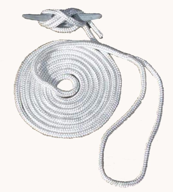 "Boater Sports Pre-Spliced Double Braided Nylon 35' Dock Line 5/8"" 53458 White MD"