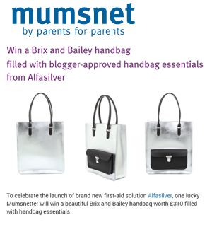 Mumsnet.com, Brix + Bailey Silver Leather Tote Bag wows in competition www.brixbailey.com