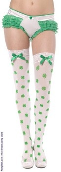 Thigh High Shamrock Stockings $11.53  this will be great wearing on St. Patric's day