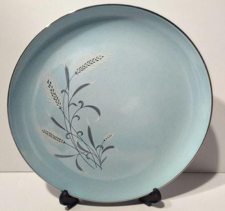"Taylor, Smith & Taylor 10 1/4""  Pebbleford Blue Dinner Plate 1950's Bidding on 1 #TaylorSmithTaylor"