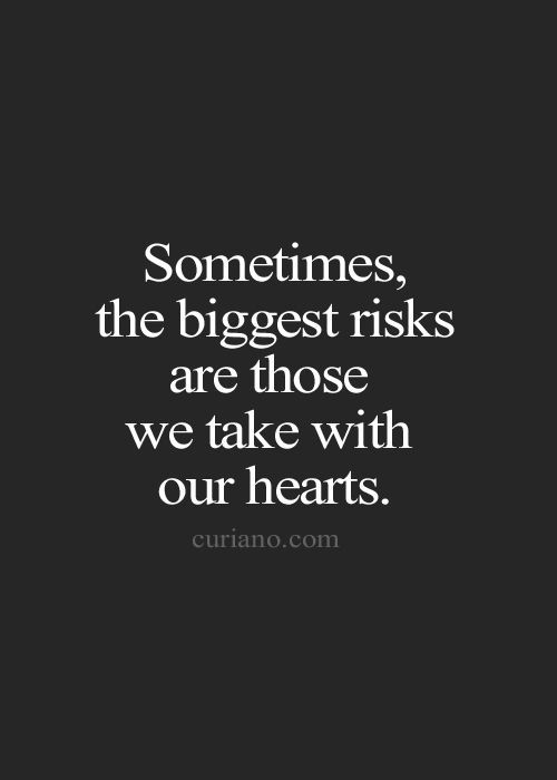 It's the best risk you can take.....