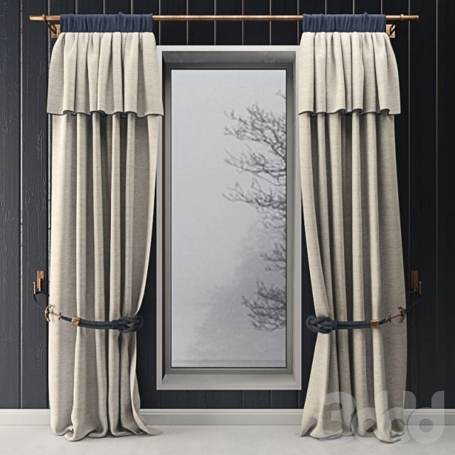 Curtains with marine decor