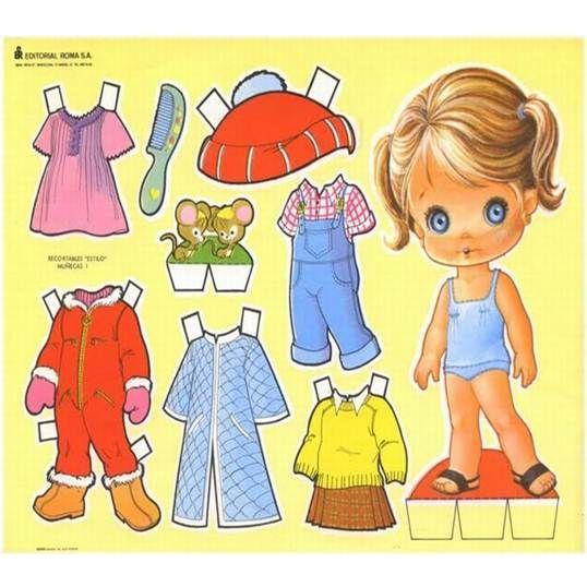 ¿Quién se acuerda de las muñecas recortables? ¡Eran tan divertido! Y con tan poco... :)