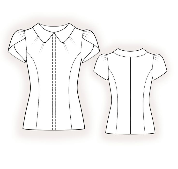 Blouse  - Sewing Pattern #4379 Made-to-measure sewing pattern from Lekala with free online download.