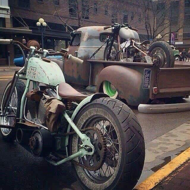 Harleys, Old Trucks and Rust!