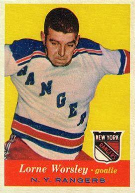 gump worsley hockey cards | 1957 Topps Gump Worsley #53 Hockey Card
