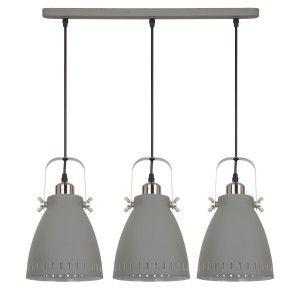 Lampa sufitowa FRANKLIN szara 3x60W Industrialna Italux MD-HN8026S-3-GR+S.NICK
