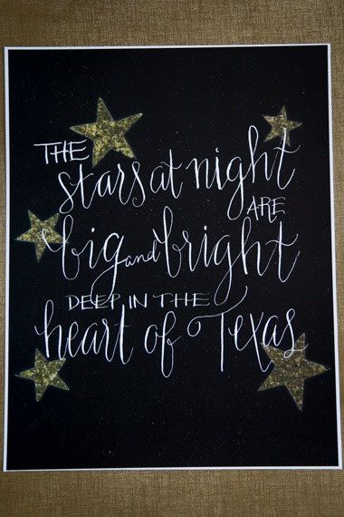 Deep in the Heart of Texas Print Texas Print by magpiewrites