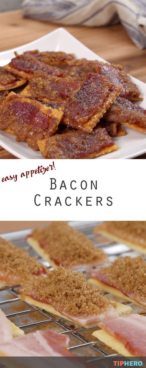 We can't resist a bacon-inspired appetizer and this one features club crackers and a little brown sugar for a salty sweet crunch. Perfect for parties, tailgates or paired with your favorite soup, but use sparingly! Click for the recipe. #easyapps
