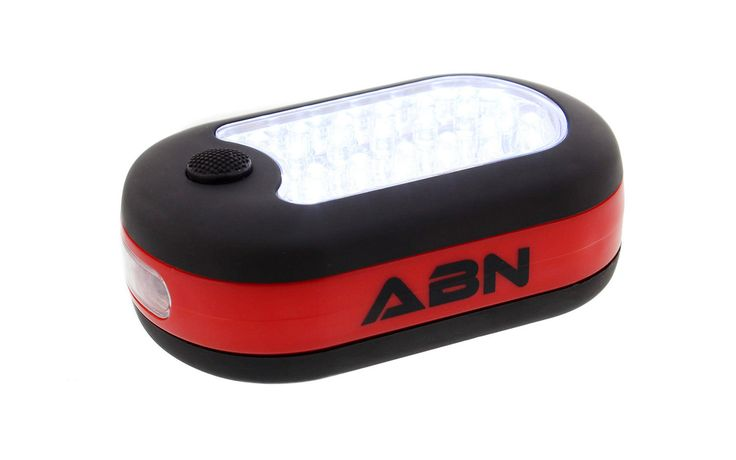 Abn Led Work Light Flashlight 24 + 3 Leds Magnetic With Hook