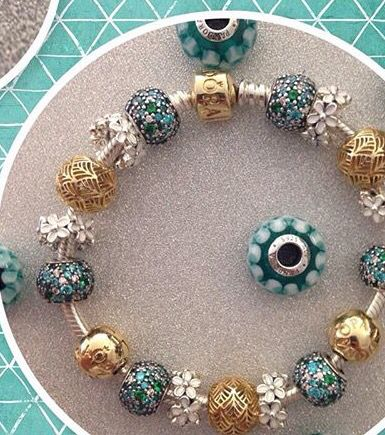 PANDORA Gold and Teal..... Great Combo!
