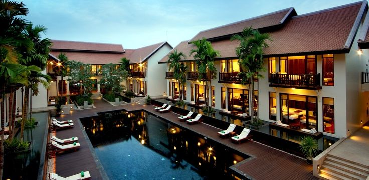 Cool off after a day at Angkor Wat in their saltwater swimming pool