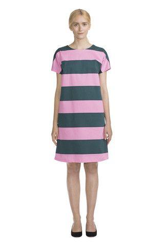 Marimekko Moma Dress Deep Teal/Pink   Kiitos Marimekko