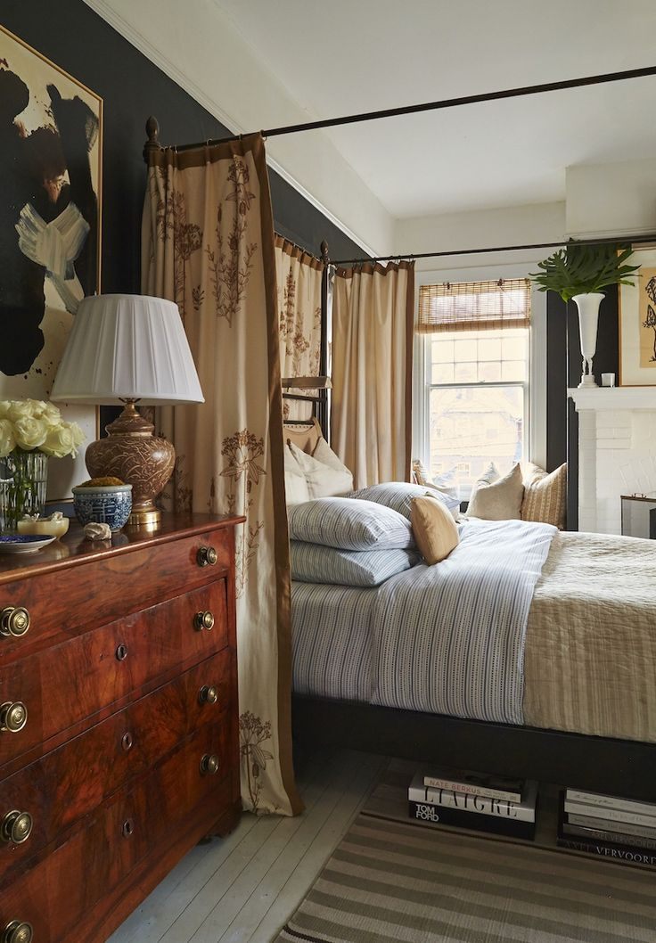 Handsome bedroom by William McLure. I would hire him in a heartbeat!