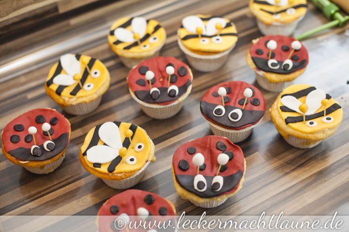 Tutorial – Cupcakes als Marienkäfer und Bienen verkleidet | lecker macht laune