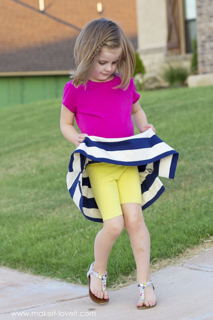 Back-to-School Skirt with Attached Shorts (…the CHEATER method)