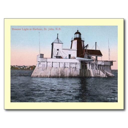 Beacon Light House St. John, New Brunswick, Canada Post Cards ~~ Available through my Zazzle store!
