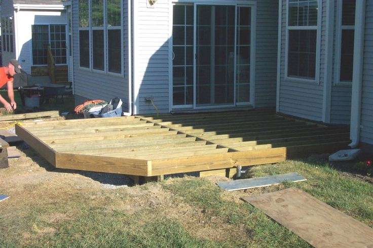 17 Best images about Ground level deck ideas on Pinterest ... on Ground Level Patio Ideas id=70784