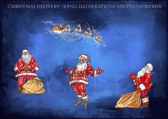 Christmas delivery 4 PNG ILLUSTRATIONS   SURPRISE by AszArt