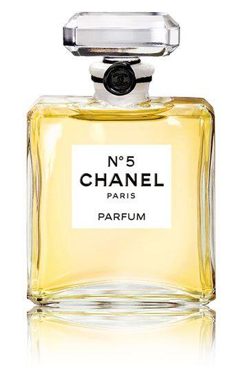 Chanel No. 5. Adlehyde (synthetic floral), ylang ylang, neroli; may rose and jasmine; sandalwood and Bourbon vanilla
