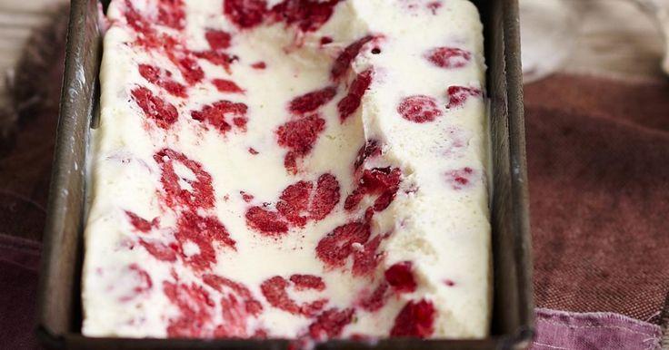 Coconut Raspberry White Chocolate Ice Cream Recipe