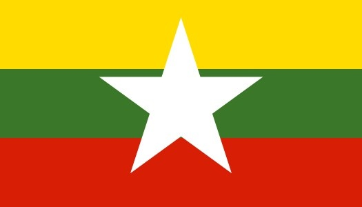 Burma officially the Republic of the Union of Myanmar, commonly shortened to Myanmar is a sovereign state in Southeast Asia bordered by Bangladesh, India, China, Laos and Thailand. One-third of Burma's total perimeter of 1,930 km (1,200 miles) forms an uninterrupted coastline along the Bay of Bengal and the Andaman Sea. Burma has a population of 51 million people. Burma is 676,578 square kilometres (261,227 sq mi) in size. Burma's capital city is Naypyidaw and its largest city is Yangon