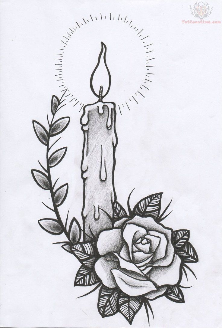 Best 25 Candle Tattoo Ideas Only On Pinterest