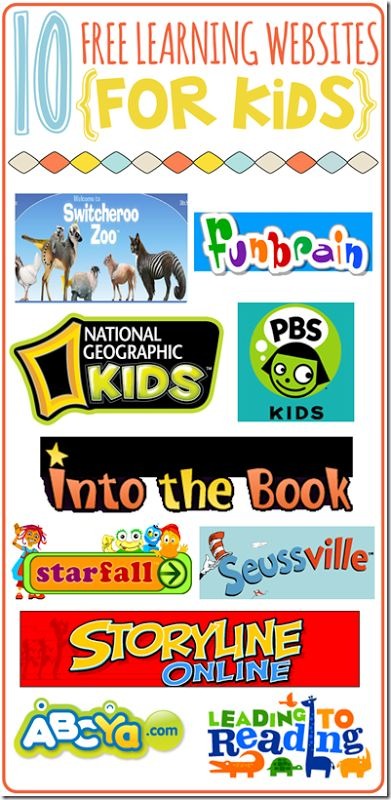 Free Learning Websites for Kids!
