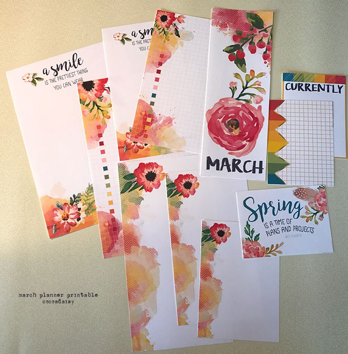Free March Planner Printables from Cocoa Daisy {store checkout required}