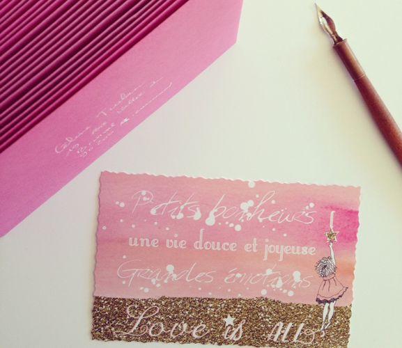 Petits bonheurs et grandes émotions, des cartes pour poétiser sa vie! www.lalie-a-sa-guise.fr Poetic card to enjoy your life and make it poeti