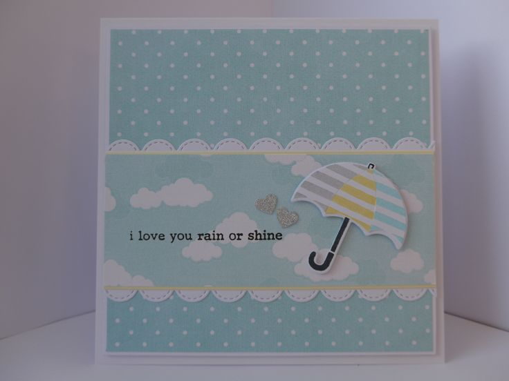Cards made using Clearly Besotted April Showers II stamps.