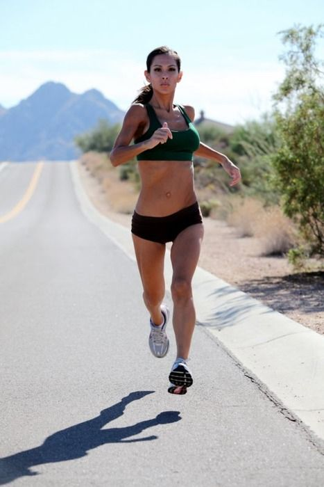 Sexy hot runner girl running rather good