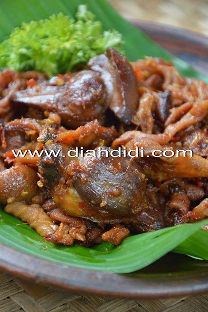 Diah Didi's Kitchen: Usus Ayam Dan Ati Ampela Bumbu Pedas Manis