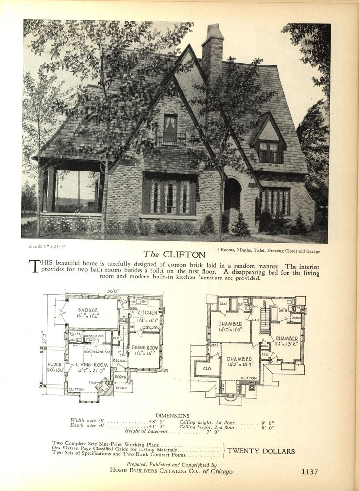 The CLIFTON Home Builders Catalog plans