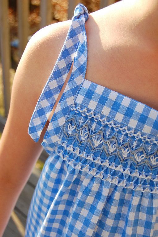 Tutorial and Pattern - Smocked Sundress in Gingham