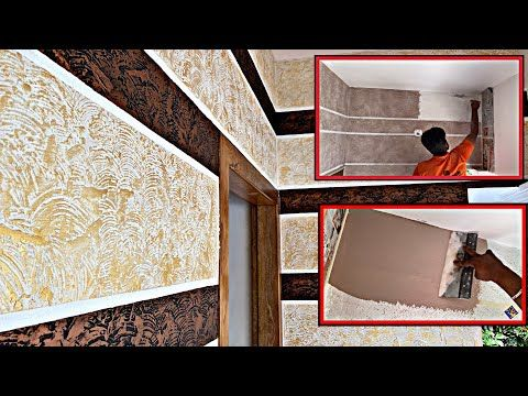 New Sitout Putty Wall Texture Design Simply New Copper And Gold Combination Design Jotun Designs Youtube In 2021 Wall Texture Design Texture Design Textured Walls Latest motif jotun room paint