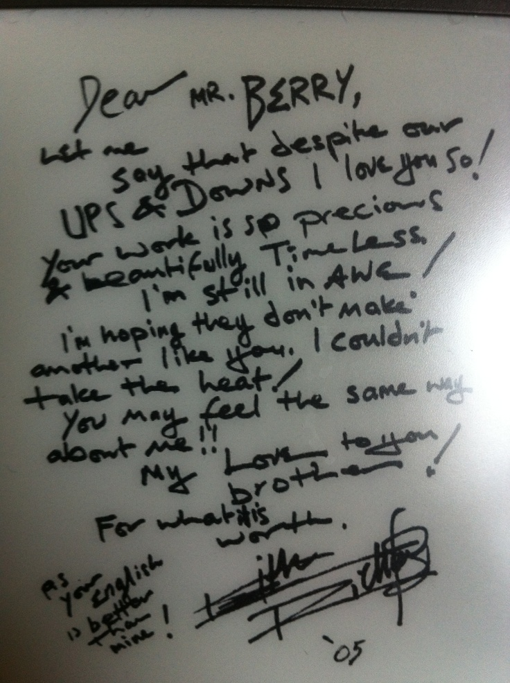 letter from keith richards to chuck berry | letters | Pinterest ...