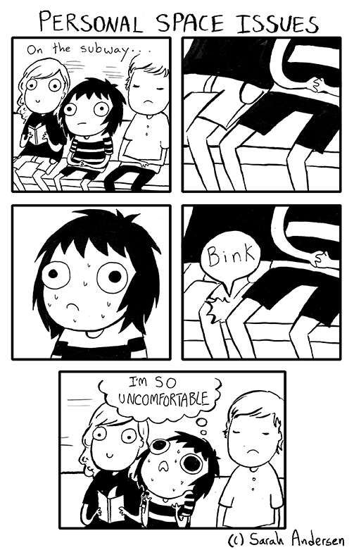 Sarah's Scribbles :: Personal Space Issues | Tapastic - image 1
