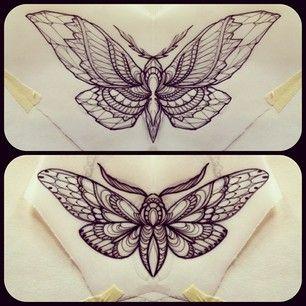 butterfly/moth tattoo