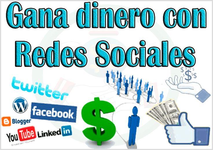 Una manera muy fácil para ganar dinero extra con redes sociales son compartiendo enlaces desde tu Facebook, twitter, YouTube, blog u otra red social..