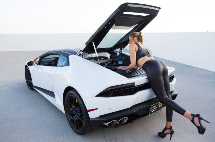 photoshoot pretty blonde and lamborghini huracn sssupersportscom shopping accessories and online shopping - Lamborghini Huracan Matte White