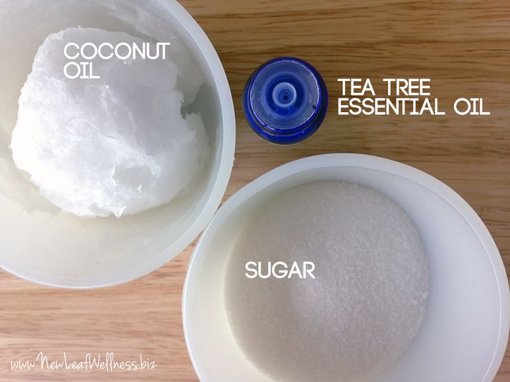 Homemade tea tree face scrub. Love this!