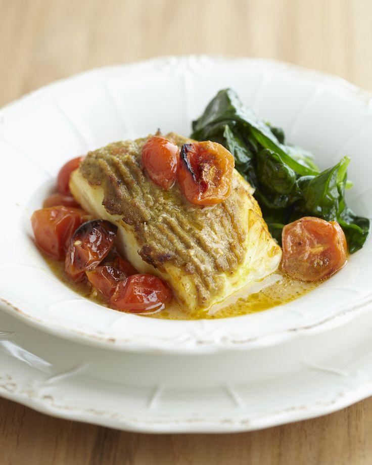 Kabeljauw met groene curry en kerstomaatjes - Pascale Naessens
