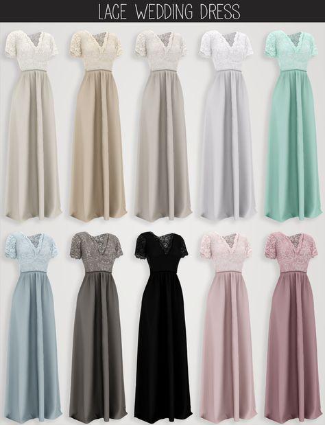 elliesimple – lace wedding dress (patreon early ac…