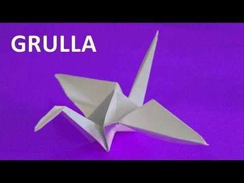 Como hacer una grulla de papel facil -origami - YouTube