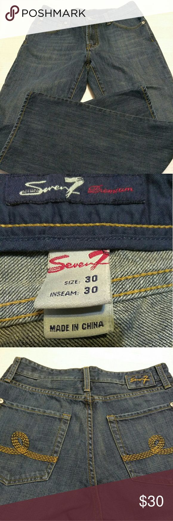 Men's Seven7 Jeans Men's size 30x30 Seven7 jeans.  Excellent used condition. Seven7 Jeans Straight