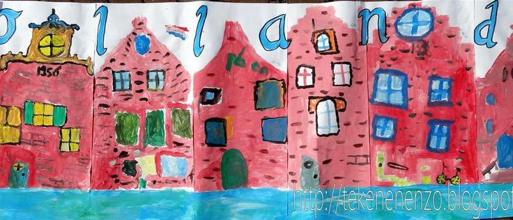 Deel van groepswerk groep 6  Benodigdheden:  wit tekenpapier  plakkaatverf  kwasten  potlood  lijm  Voor een bevriende leerkracht in Amerika...