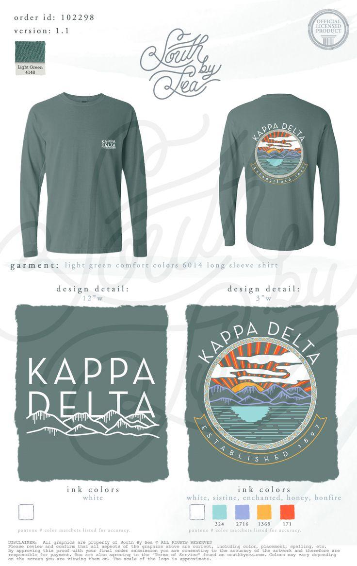 Design t shirt rollerblade - Kappa Delta Kd Sunset Long Sleeve T Shirt Design Mountains T